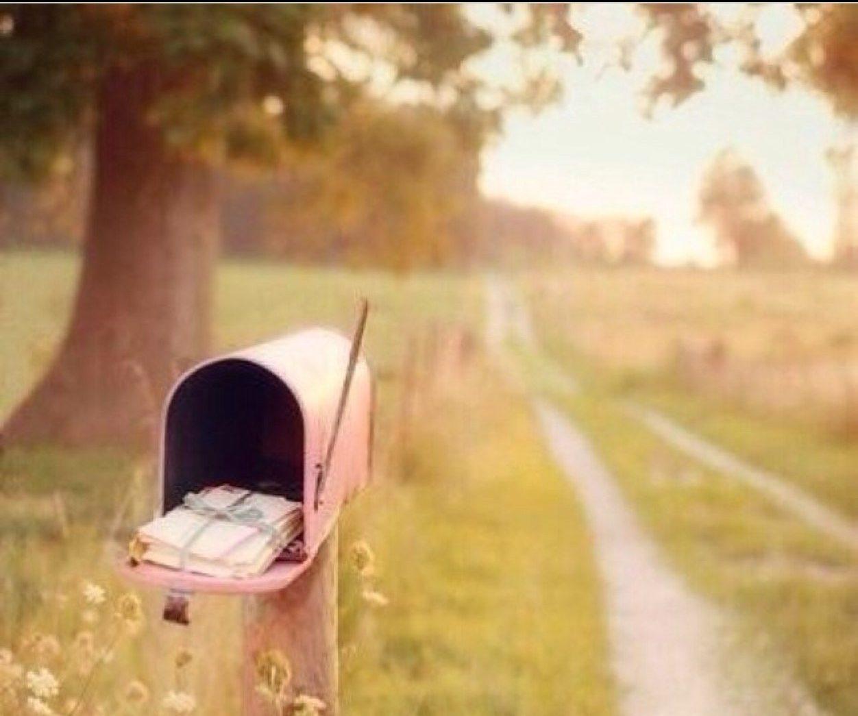Pretty pink mailbox