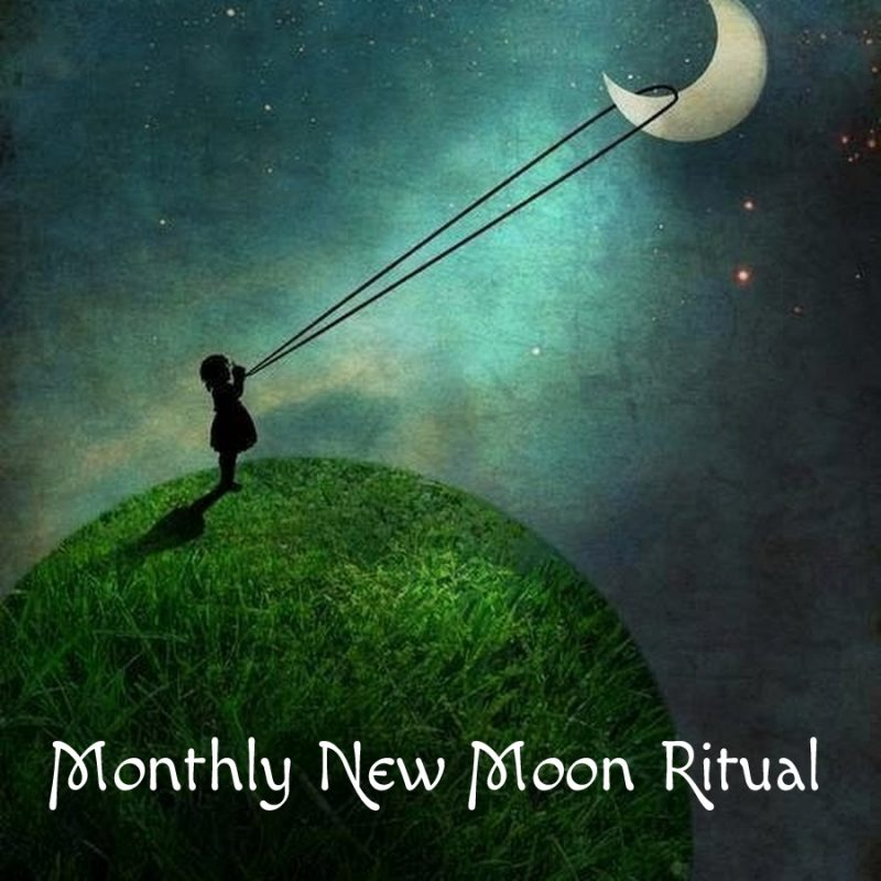 Happy New Moon!  Join the ritual... @ Perform this ritual from the comfort of your own home or on the beach or in the park.  Perform it anywhere that feels uplifting for you.  You can even do it with a group of friends!