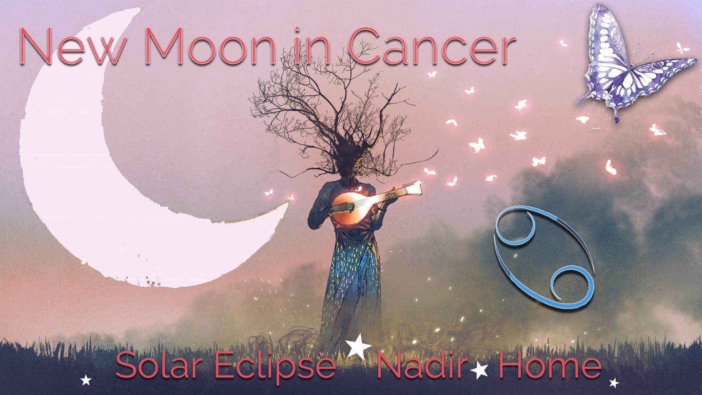 New Moon Solar Eclipse in Cancer July 13, 2018:   Connection!  Connection! Get your Fresh, Hot Connection!