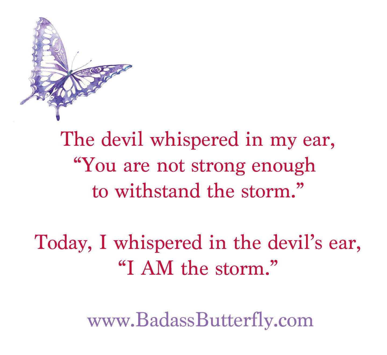 Feeling My Feels:  I AM the Storm