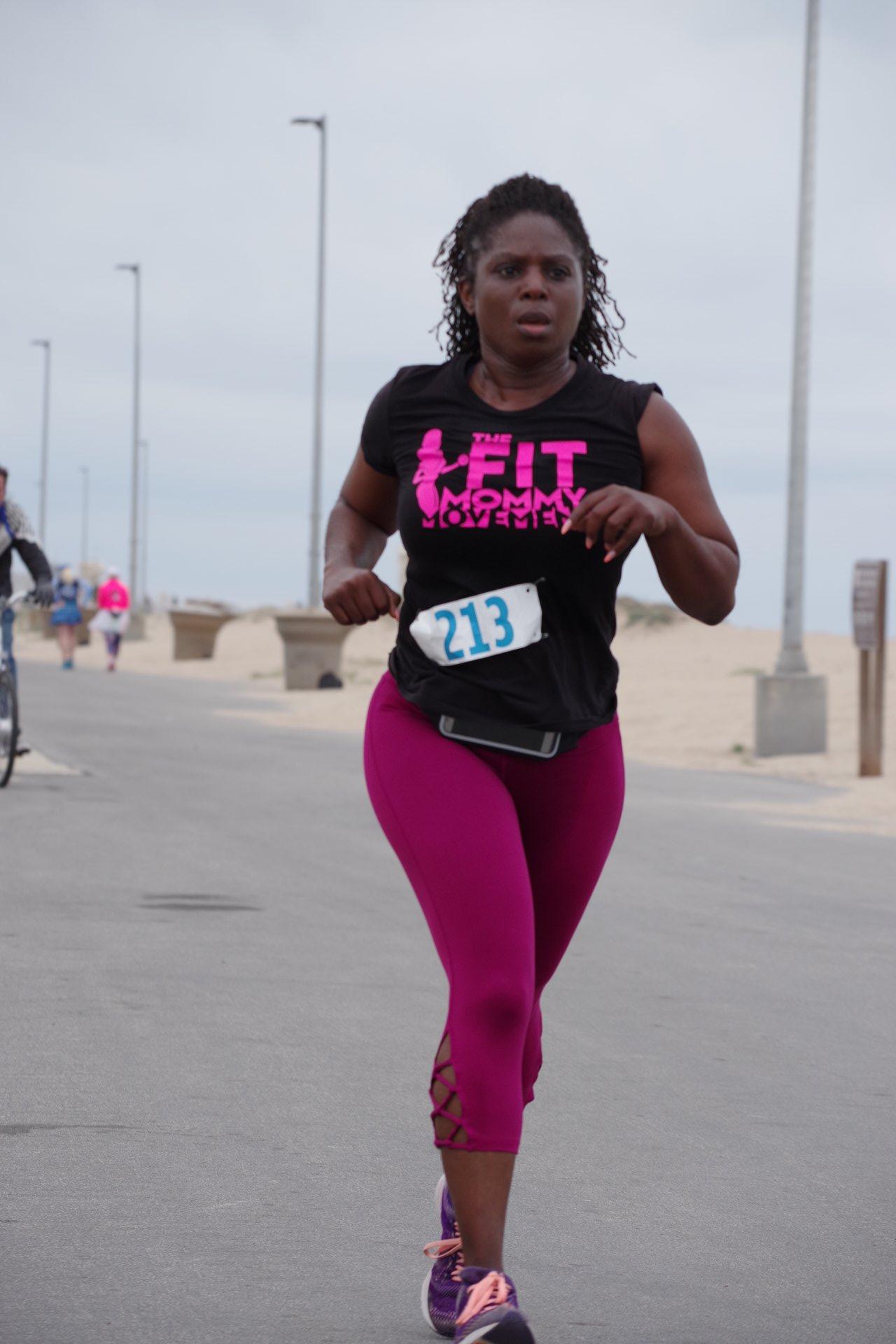 Badass Butterfly Mar'Lyn Bland running
