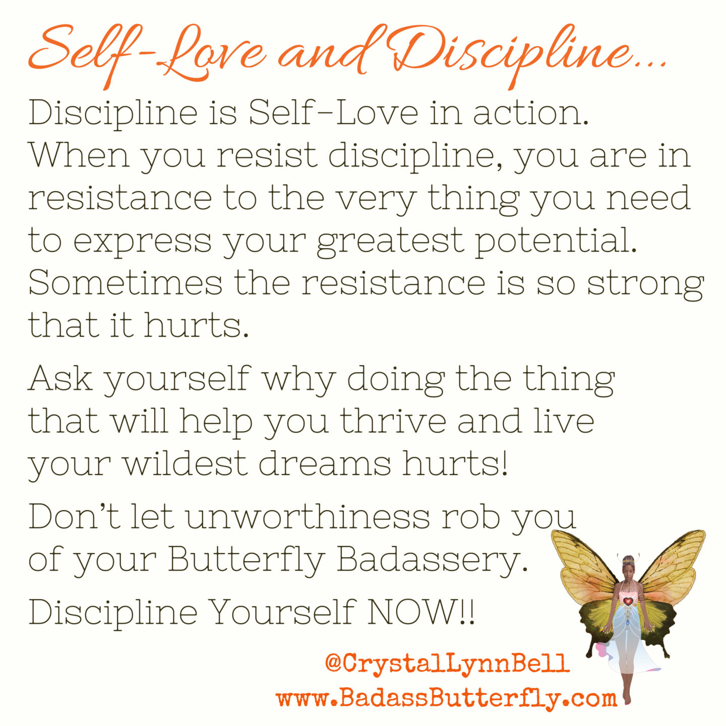 Discipline is Self-Love in Action