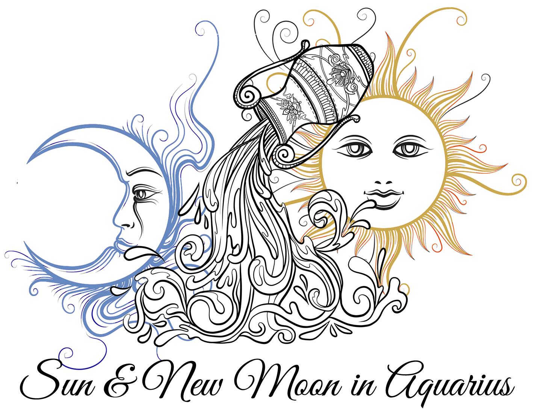 Sun and New Moon in Aquarius
