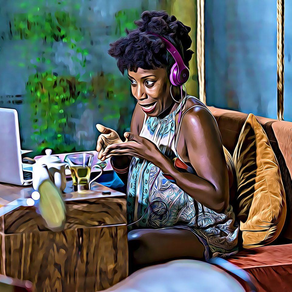 This photo (which I turned into a painting using some app) was taken of me in doing my work at a gorgeous cafe in Siem Reap, Cambodia. I stayed in Siem Reap for three months exploring ancient temples, learning about Cambodian culture, and of course, seeing my clients!